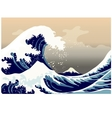 large frothy waves sea vector image