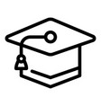 learning graduation hat icon outline style vector image vector image