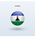 Lesotho round flag vector image vector image