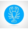 Lobster blue round icon vector image vector image