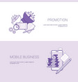 marketing promotion and mobile business template vector image vector image