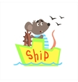 Mause Sailing On The Ship vector image vector image