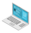modern new laptop icon isometric style vector image