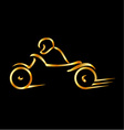 Motorbike with abstract lines vector image