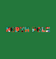 north pole concept word art vector image vector image