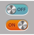 off and on buttons vector image