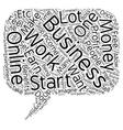 Online Business text background wordcloud concept vector image vector image