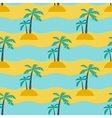 Palms and sea vector image