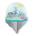 paper art aquarius vector image vector image