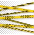 police yellow tape danger zone with line barrier vector image