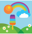 popsicle in summer vector image vector image