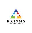 prism mark vector image vector image