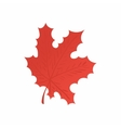 Red maple leaf icon cartoon style vector image vector image