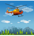 rescue helicopter vector image