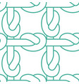 rope node pattern bonded twine ornament textile vector image vector image