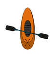 row boat or kayak icon image vector image vector image