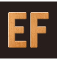 Sans serif geometric font with wood texture vector image vector image