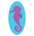 seahorse or color vector image