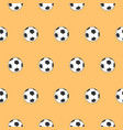 seamless pattern soccer ball and football themes vector image