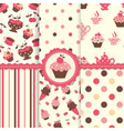 set cake patterns vector image vector image