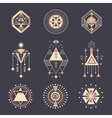 set sacred geometry vector image