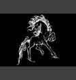 silhouette a running horse vector image vector image