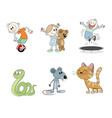 six children characters vector image vector image