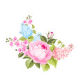 spring flowers bouquet vector image vector image