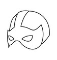 super hero mask for face character in flat style vector image vector image
