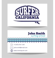 Surf instructor template vector image vector image