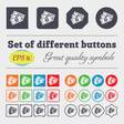 Us dollar icon sign Big set of colorful diverse vector image