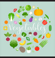 Vegetables arrange in circle shape