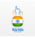vote indian election label design vector image vector image
