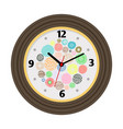 wall clock with artistic background vector image vector image