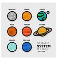 solar system icon set vector image