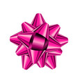 pink holiday bow on white background vector image