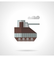 Toy tank flat color icon vector image