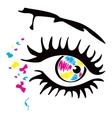 Printer eye vector image