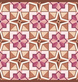 abstract mosaic tile pattern with geometric shape vector image vector image