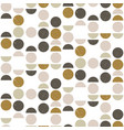 abstract seamless geometric pattern with circles vector image vector image