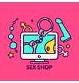 Adult toys sex shop online web vector image vector image