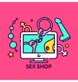 adult toys sex shop online web vector image vector image