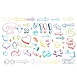 Arrows drawing set vector image vector image