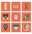 assembly flat icons gay symbols vector image vector image