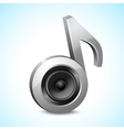 Audio speaker note vector image