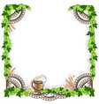 beer frame with vintage elements vector image vector image