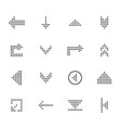 black arrows icon set pointers for navigation vector image vector image