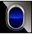 Black Fingerprint scanner vector image vector image