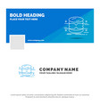 blue business logo template for database data vector image