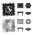 board game blackmonochrom icons in set collection vector image vector image